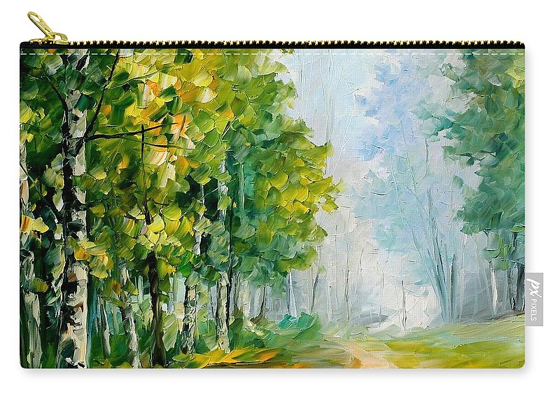 Afremov Carry-all Pouch featuring the painting Summer Forest by Leonid Afremov