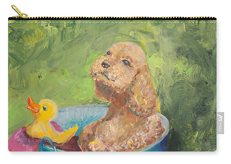 Dog Carry-all Pouch featuring the painting Summer Fun by Nadine Rippelmeyer