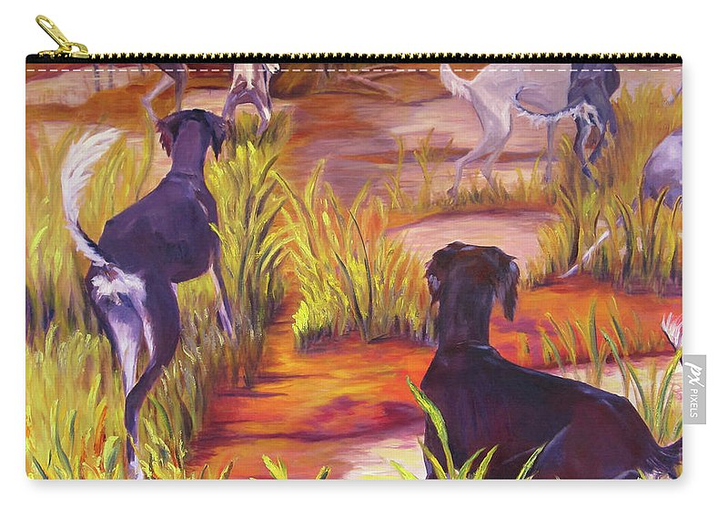 Art Carry-all Pouch featuring the painting Summer Fun by Terry Chacon