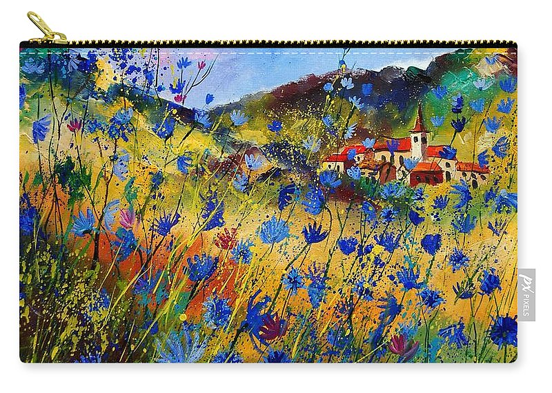 Flowers Carry-all Pouch featuring the painting Summer Glory by Pol Ledent