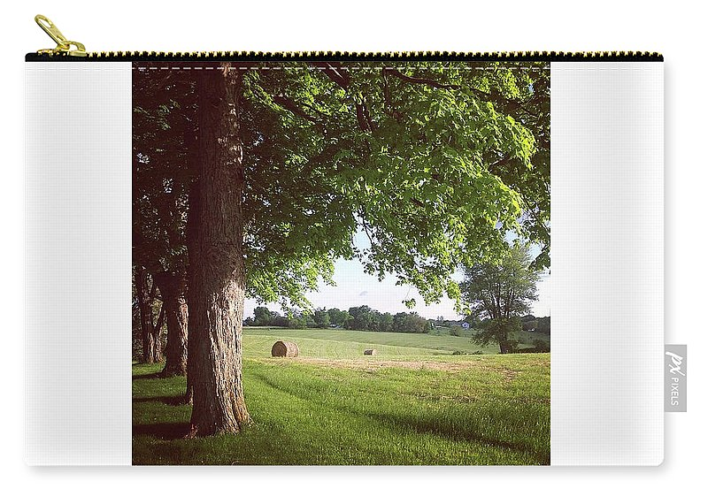 Landscape Carry-all Pouch featuring the photograph Summer Harvest by Kory Olson