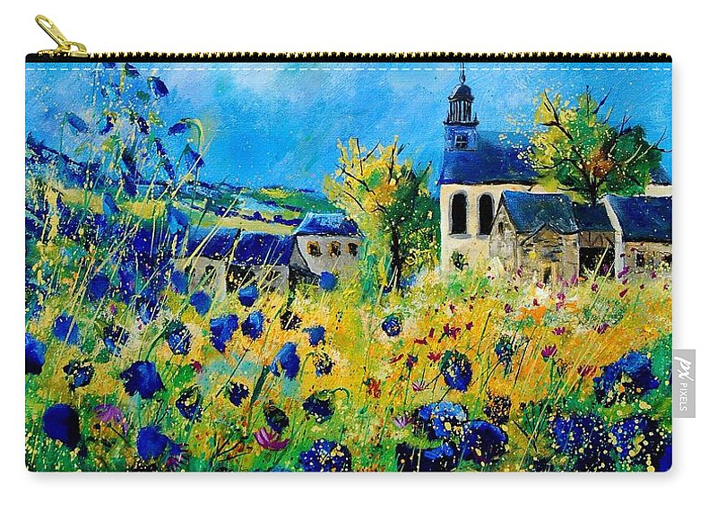 Poppies Carry-all Pouch featuring the painting Summer in Foy Notre Dame by Pol Ledent
