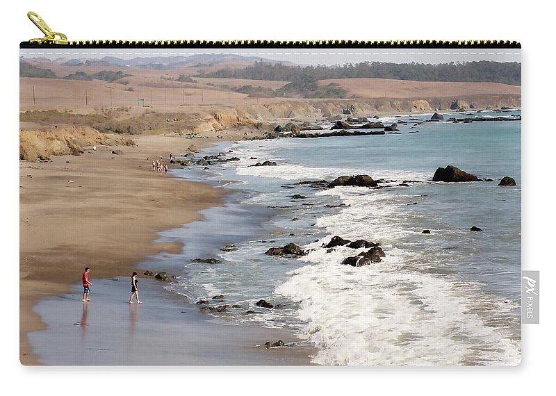 San Simeon Carry-all Pouch featuring the photograph Summer In San Simeon by Art Block Collections