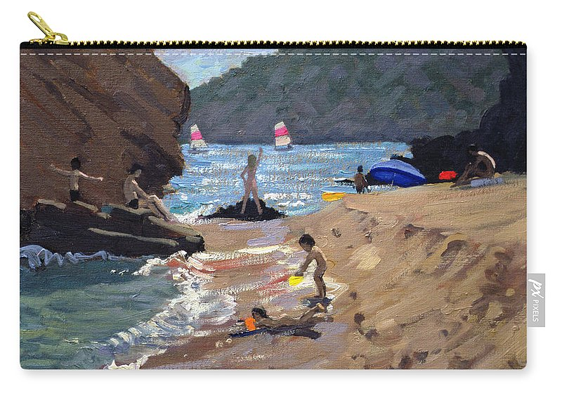 Resort Carry-all Pouch featuring the painting Summer In Spain by Andrew Macara