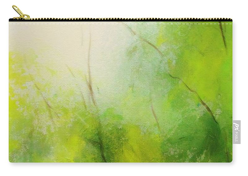 Landscape Carry-all Pouch featuring the digital art Summer In The Air by Anahid Minatsaghanian