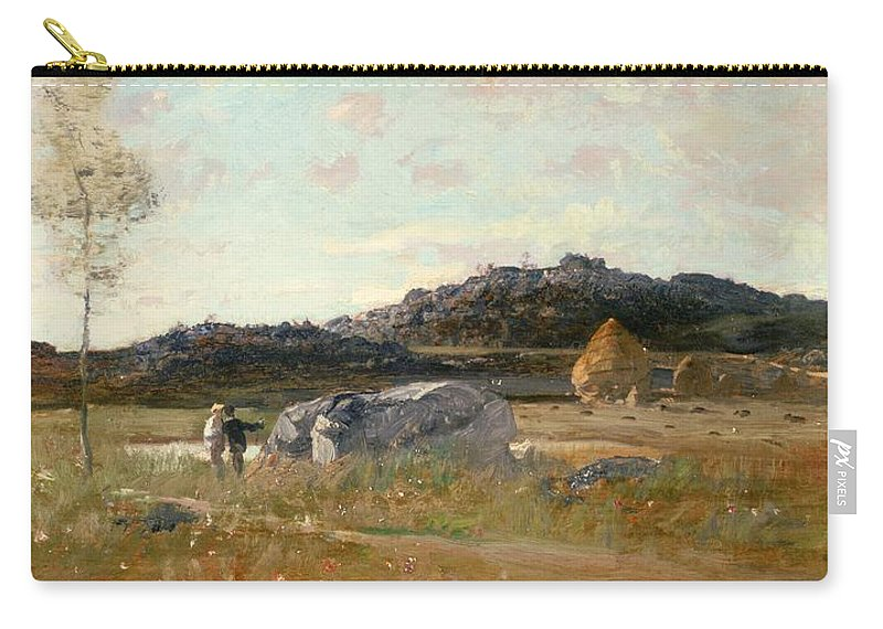 Summer Carry-all Pouch featuring the painting Summer Landscape by Luigi Loir