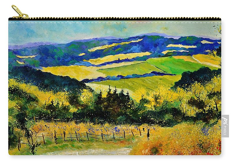 Landscape Carry-all Pouch featuring the painting Summer Landscape by Pol Ledent