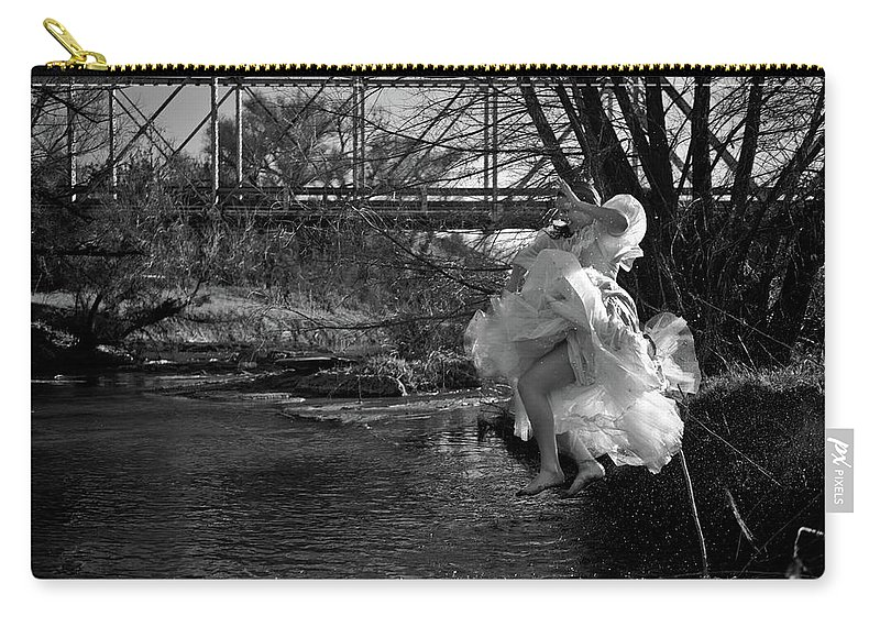 Summer Play Carry-all Pouch featuring the photograph Summer Leap by Scott Sawyer