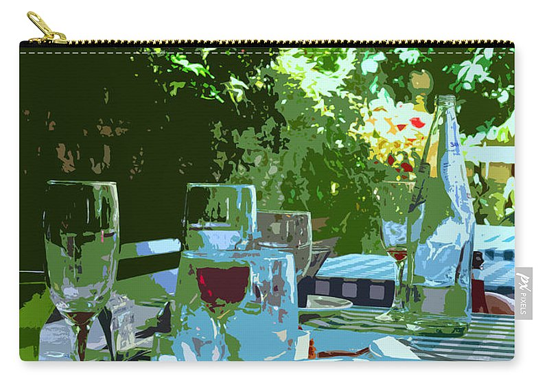 Wine Carry-all Pouch featuring the photograph Summer Lunch Remembered by Ian MacDonald