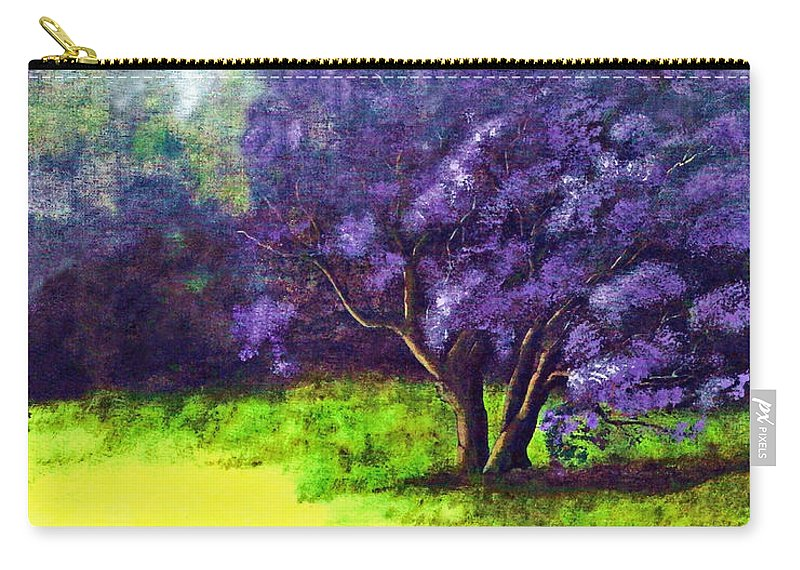 Fine Art Print Carry-all Pouch featuring the painting Summer Mist by Patricia Griffin Brett