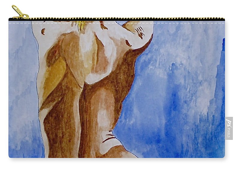 Nude By Herschel Fall Very Hot Nude Carry-all Pouch featuring the painting Summer Morning by Herschel Fall