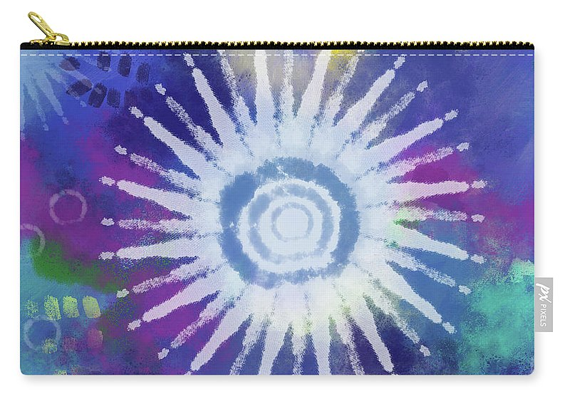 Groovy Carry-all Pouch featuring the mixed media Summer of Love 2- Art by Linda Woods by Linda Woods