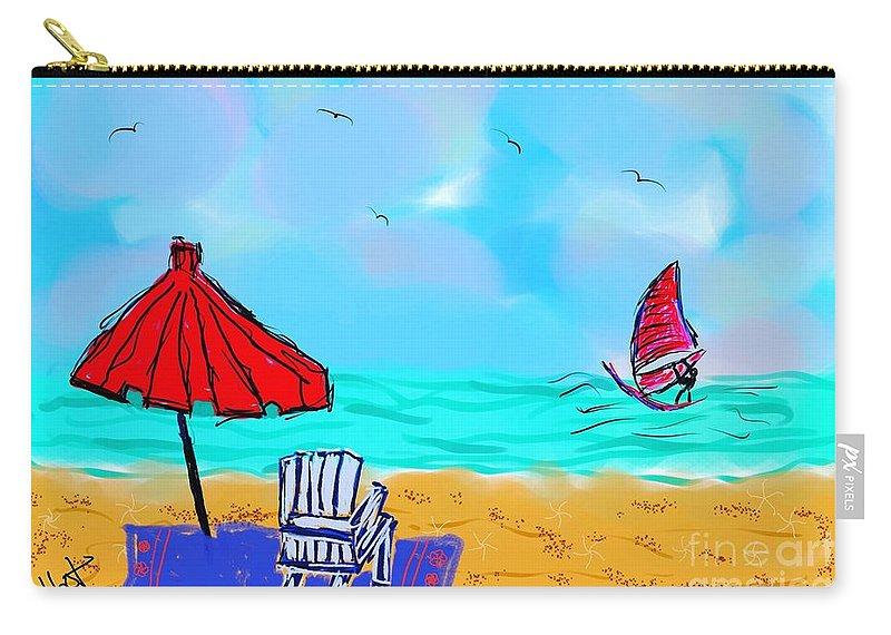 Nantasket Carry-all Pouch featuring the digital art Summer On Nantasket by Jennifer Talbot
