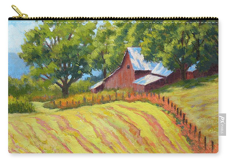 Landscape Carry-all Pouch featuring the painting Summer Patterns by Keith Burgess
