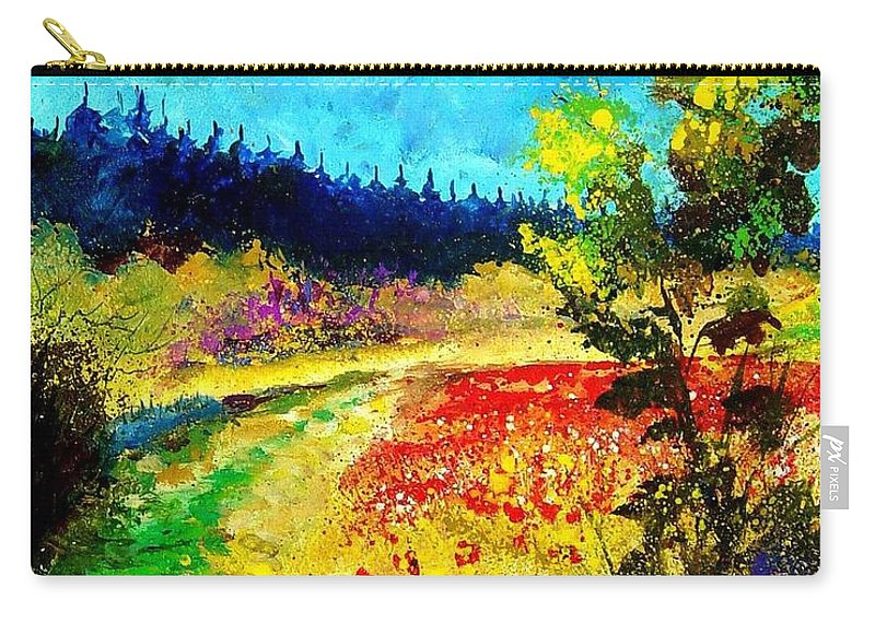 Flowers Carry-all Pouch featuring the painting Summer by Pol Ledent
