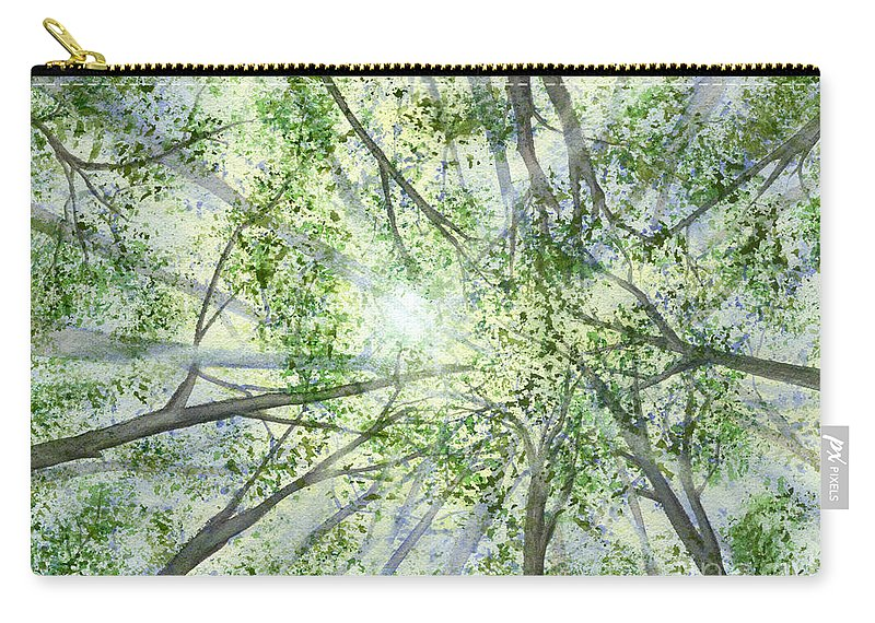 Trees Carry-all Pouch featuring the painting Summer Rays by Lynn Quinn