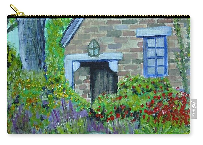 Cottage Carry-all Pouch featuring the painting Summer Retreat by Laurie Morgan