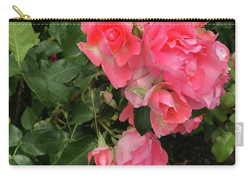 Montauk Carry-all Pouch featuring the photograph Summer Roses by Jennifer Stark