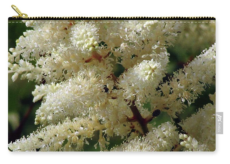 White Astible Carry-all Pouch featuring the photograph Summer Snow 2 by Kim Tran