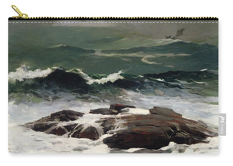 Summer Squall Carry-all Pouch featuring the painting Summer Squall by Winslow Homer