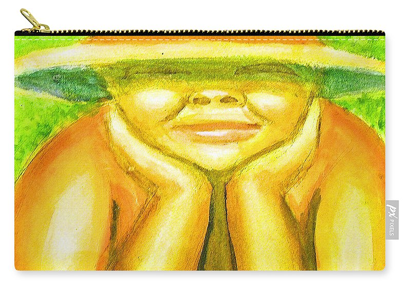 Carry-all Pouch featuring the painting Summer Sun by Jan Gilmore