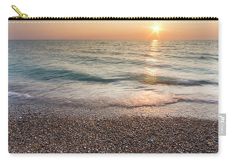 Pierport Carry-all Pouch featuring the photograph Summer Sunset At Pierport by Twenty Two North Photography