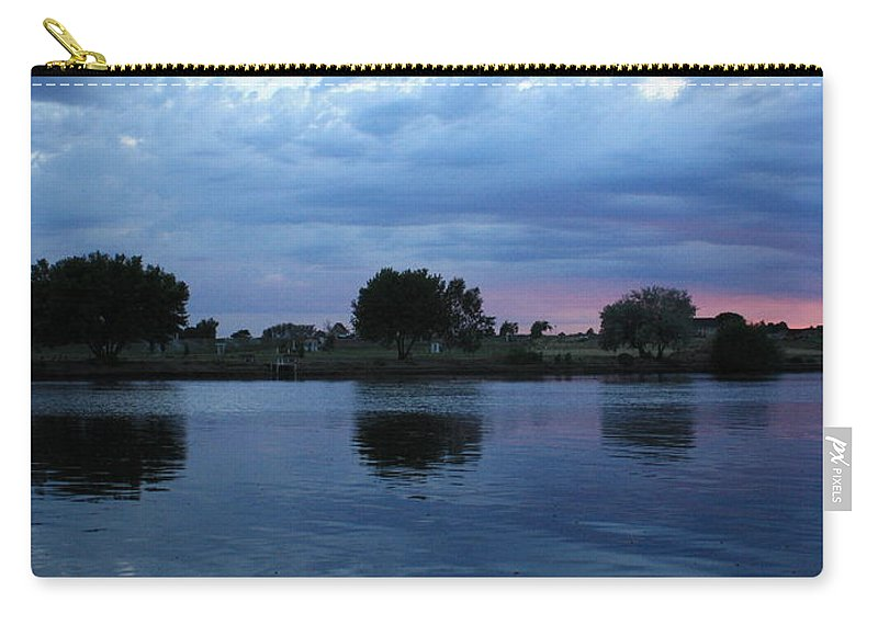 Blue Carry-all Pouch featuring the photograph Summer Sunset On Yakima River 5 by Carol Groenen