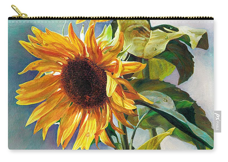 Sunflower Carry-all Pouch featuring the painting Summer by Svitozar Nenyuk
