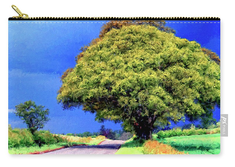 Country Road Carry-all Pouch featuring the painting Summer Thunder by Dominic Piperata