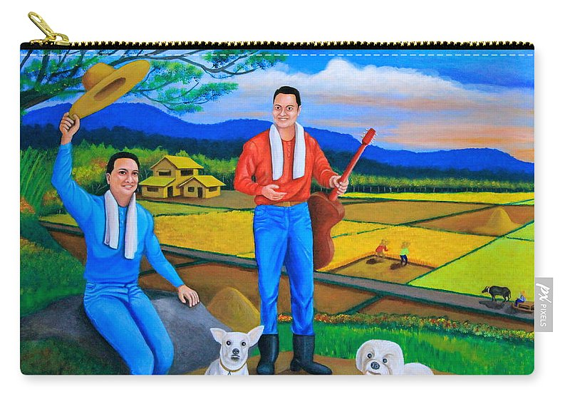 Farm Carry-all Pouch featuring the painting Summer View by Cyril Maza