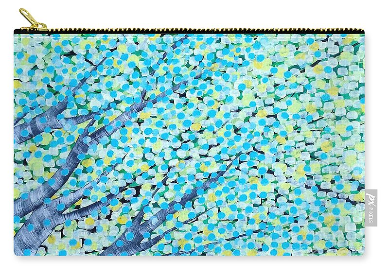 Trees Carry-all Pouch featuring the painting Summer by Wonju Hulse