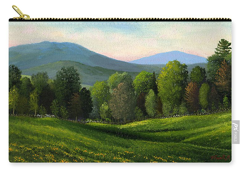 Landscape Carry-all Pouch featuring the painting Summers Ending by Frank Wilson