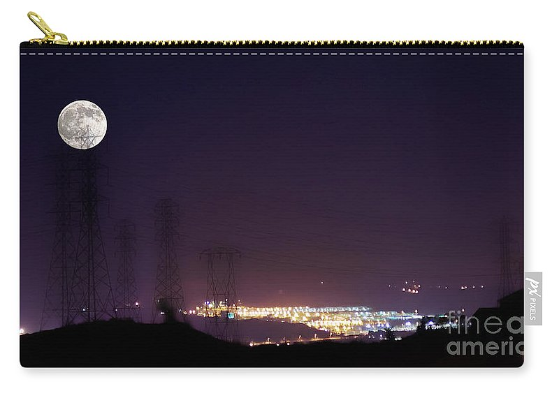 Clay Carry-all Pouch featuring the photograph Summer's Night In The Valley by Clayton Bruster