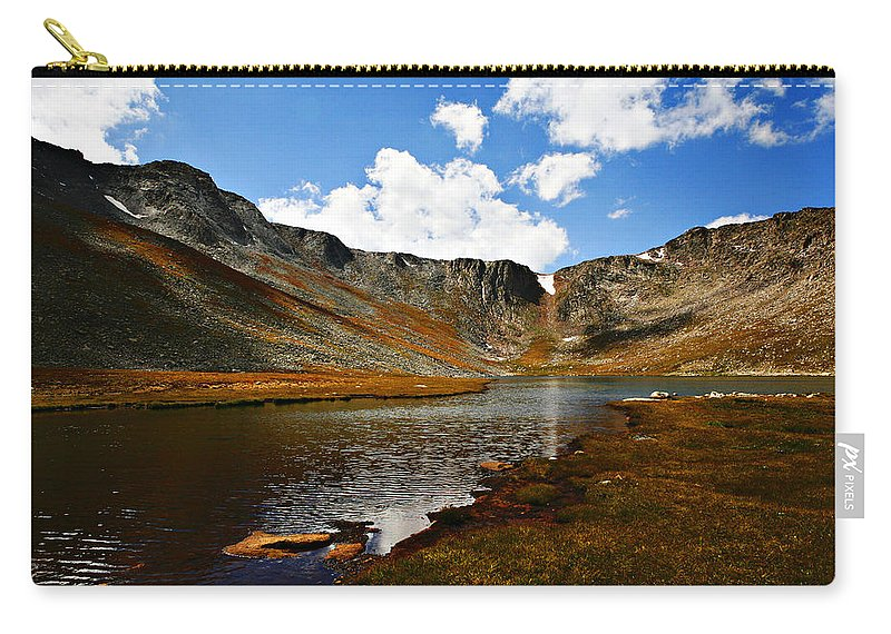 Travel Carry-all Pouch featuring the photograph Summit Lake Colorado by Marilyn Hunt