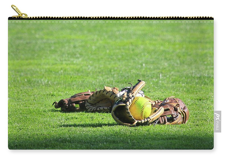 Softball Carry-all Pouch featuring the photograph Sun Bathing by Laddie Halupa