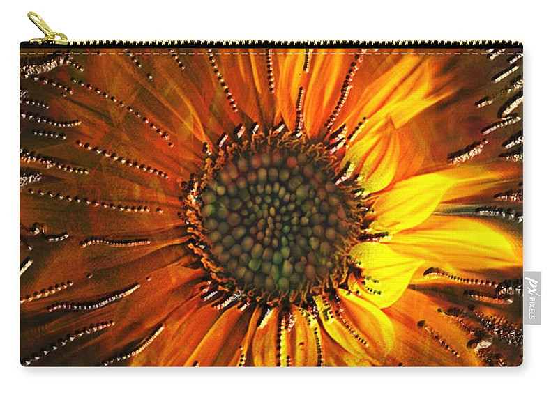 Sun Flower Carry-all Pouch featuring the painting Sun Burst by Kevin Caudill