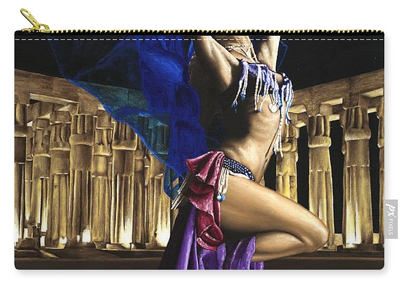 Belly Carry-all Pouch featuring the painting Sun Court Dancer by Richard Young