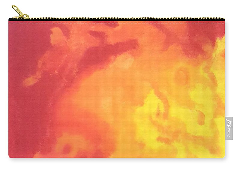 Sun Carry-all Pouch featuring the pastel Sun Fire by Angela Lasky