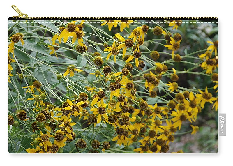 Macro Carry-all Pouch featuring the photograph Sun Flowers by Rob Hans