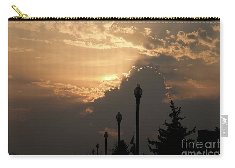 Sun Carry-all Pouch featuring the photograph Sun In A Cloud Of Glory by Andee Design