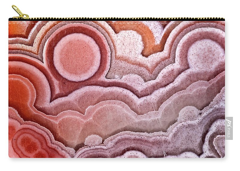 Red Laguna Lace Agate Carry-all Pouch featuring the photograph Sun In The Clouds by Onyonet Photo Studios