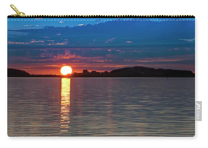 2018 Carry-all Pouch featuring the photograph Sun Is Setting Over Port Hood Island by Ken Morris