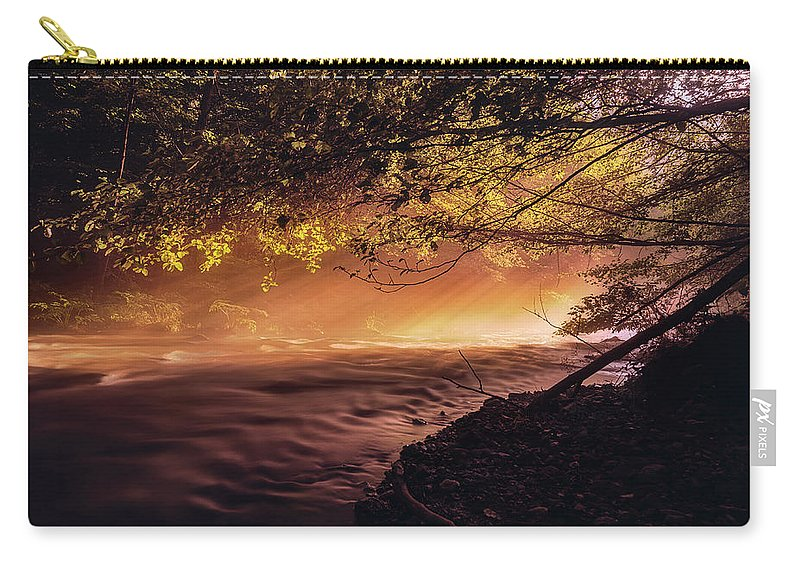 Sun Carry-all Pouch featuring the photograph Sun Rays 1 by Adrian Malanca