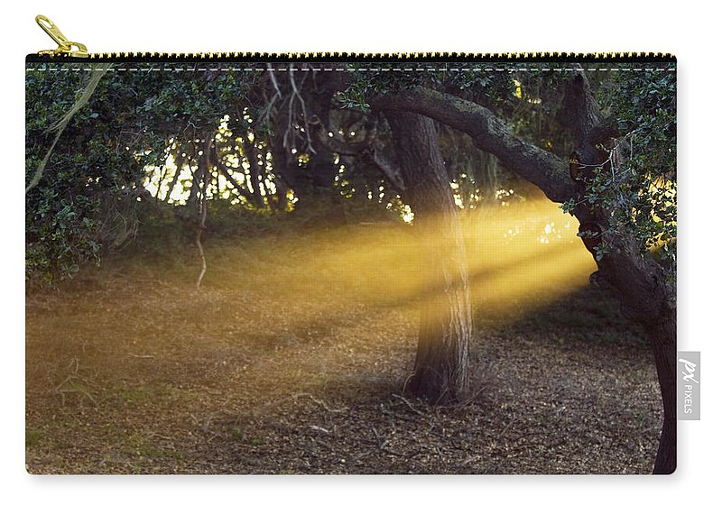 Landscape Carry-all Pouch featuring the photograph Sun Rays 2 by Jill Reger