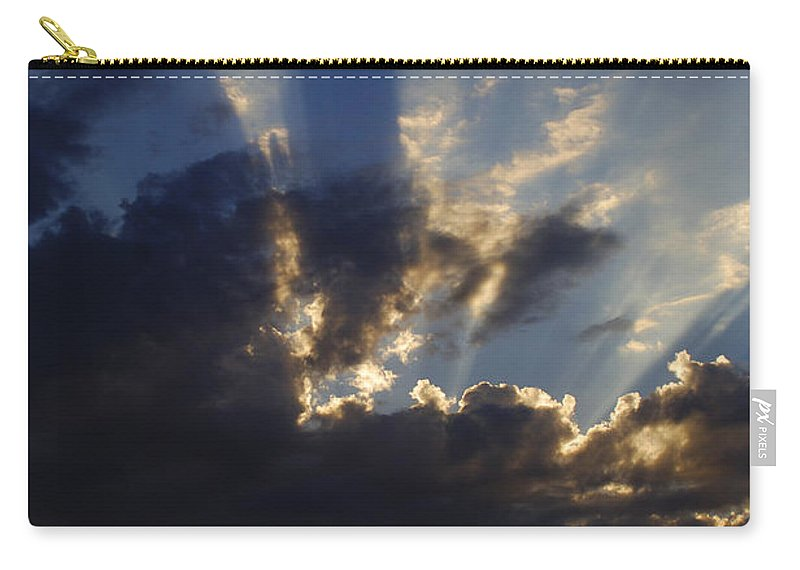 Sunset Carry-all Pouch featuring the photograph Sun Rays by Jill Reger