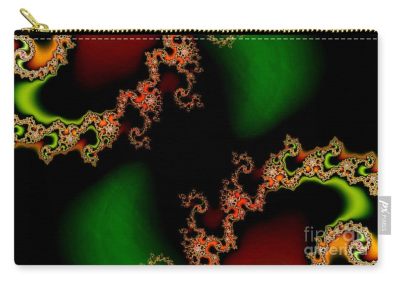 Clay Carry-all Pouch featuring the digital art Sun Spots by Clayton Bruster