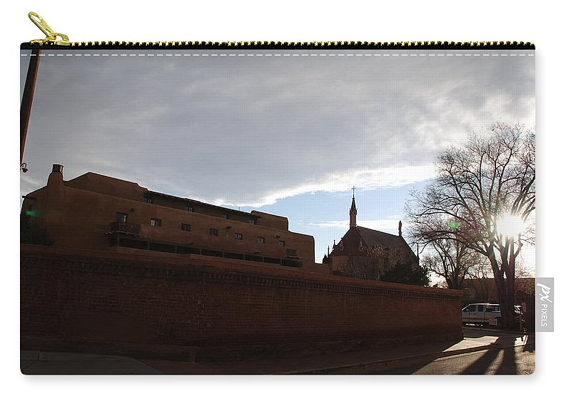 New Mexico Carry-all Pouch featuring the photograph Sun Thru The Trees by Rob Hans