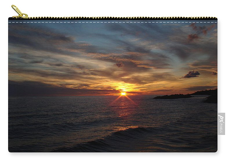 Sun Carry-all Pouch featuring the photograph Sun Up by Bonfire Photography