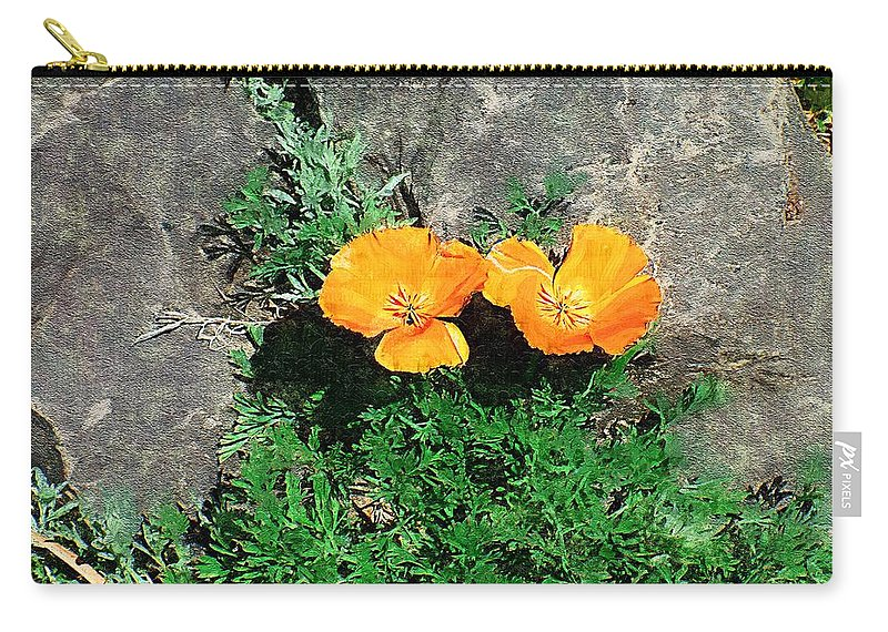Cliff Carry-all Pouch featuring the painting Sunbathers by RC DeWinter