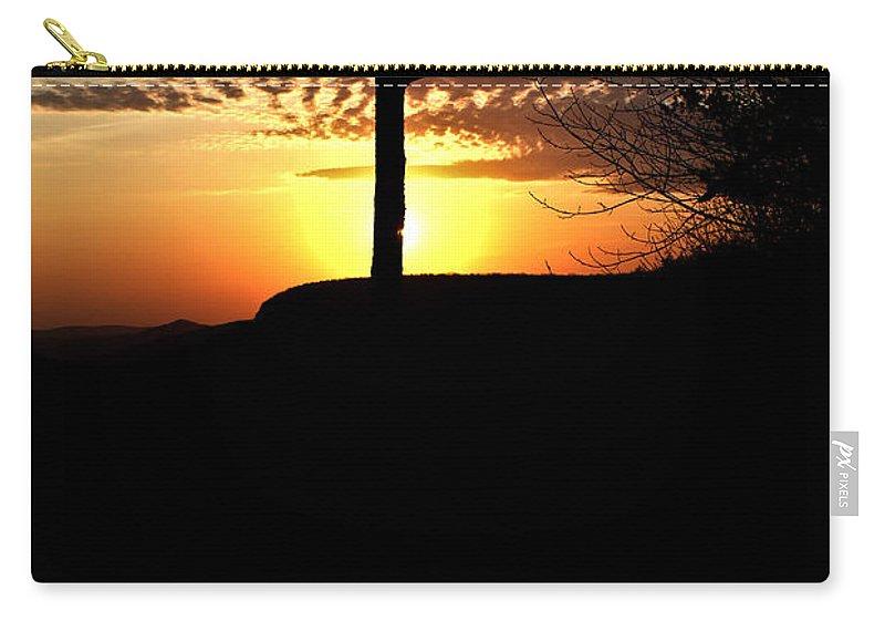 Sunburst Carry-all Pouch featuring the photograph Sunburst Sunset by Douglas Barnett